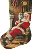 Santa Resting Stocking (Left) - Cross Stitch Chart