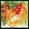 "9808 ""Here's Looking at You"" Rooster - Cross Stitch Chart"