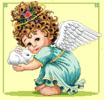 Angel and Bunny 1 - Cross Stitch Chart