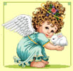 Angel and Bunny 2 - Cross Stitch Chart