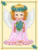 Angel of Spring (Blue Roses) - Cross Stitch Chart
