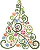 Abstract Christmas Tree - Cross Stitch Chart
