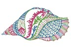 Abstract Shell Design - Cross Stitch Chart