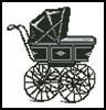 Antique Pram - Cross Stitch Chart