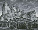 Artistic Castle (Black and White) - Cross Stitch Chart