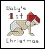 Babies 1st Christmas Card - Cross Stitch Chart