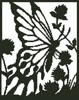 Butterfly Silhouette 2 - Cross Stitch Chart