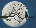 Cat in the Moonlight - Cross Stitch Chart