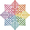 Celtic Rainbow Star - Cross Stitch Chart