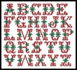 Christmas Alphabet - Cross Stitch Chart