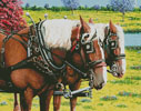 Clydesdales in the Meadow - Cross Stitch Chart
