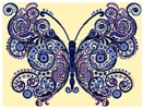Butterfly Sampler (Beautiful Blue) - Cross Stitch Chart