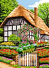 English Cottage and Blooming Garden - Cross Stitch Chart
