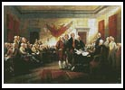 Declaration of Independence - Cross Stitch Chart