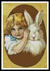 Easter Bunny and Girl - Cross Stitch Chart