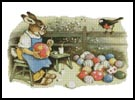 Easter Bunny Painting - Cross Stitch Chart