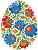 Folk Art Easter Egg 1 - Cross Stitch Chart
