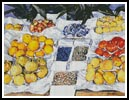 Fruit displayed on a stand - Cross Stitch Chart