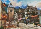 German Market Town - Cross Stitch Chart