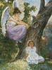 Guardian Angel and Girl - Cross Stitch Chart