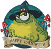 Halloween Toad - Cross Stitch Chart