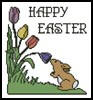 Happy Easter - Cross Stitch Chart