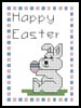 Happy Easter Card - Cross Stitch Chart