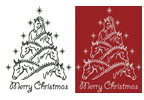 Horse Christmas Tree - Cross Stitch Chart