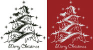 Horse Christmas Tree 2 - Cross Stitch Chart