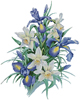 Irises Painting - Cross Stitch Chart