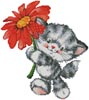 Kitty Flower - Cross Stitch Chart