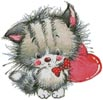 Kitty Heart - Cross Stitch Chart