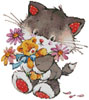 Kitty with Presents - Cross Stitch Chart
