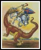Knight and Dragon - Cross Stitch Chart