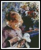 Lady Sewing - Cross Stitch Chart