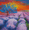 Lavender Field at Sunset (Crop) - Cross Stitch Chart