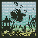 Aquarium Silhouette 4 - Cross Stitch Chart