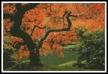 Autumn Tree - Cross Stitch Chart