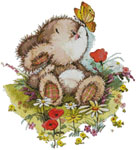 Bunny Butterfly - Cross Stitch Chart