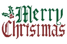 Christmas Greeting - Cross Stitch Chart