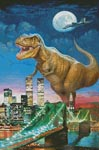 Dinosaur in New York - Cross Stitch Chart