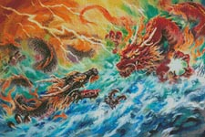 Encountering Dragons - Cross Stitch Chart