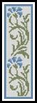 Floral Bookmark 3 - Cross Stitch Chart