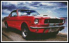 Ford Mustang - Cross Stitch Chart