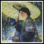 The Green Parasol - Cross Stitch Chart