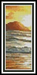Island Sunset Bookmark - Cross Stitch Chart