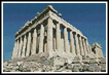 Mini Parthenon - Cross Stitch Chart