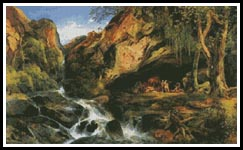 Salvator Rosa and the Brigands - Cross Stitch Chart