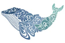 Whale Silhouette - Cross Stitch Chart