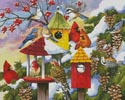 Meeting at the Bird Feeder - Cross Stitch Chart